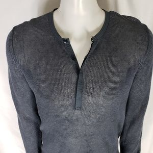 Theory Mens Gray Net Cotton Shirt Size Size Med